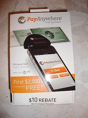 Pay Anywhere Smartphone or Tablet Mobile Credit Card Reader ~NEW~