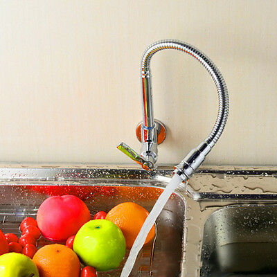 Single Handle Swivel Pull Down Flexible Spray Kitchen Sink Faucet Cold water Tap