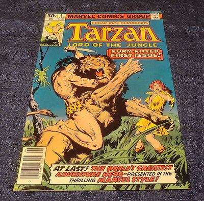 Bronze Age Marvel TARZAN LORD OF THE JUNGLE #1 Comic Book 1977 Roy Thomas