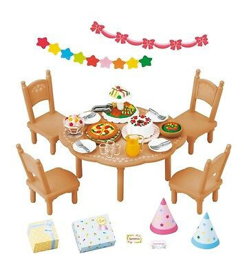 New Epoch Sylvanian Families Furniture Doll Accessory Home Party Set From Japan