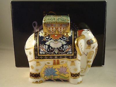 Royal Crown Derby Father Elephant Paperweight - 1st Quality Boxed