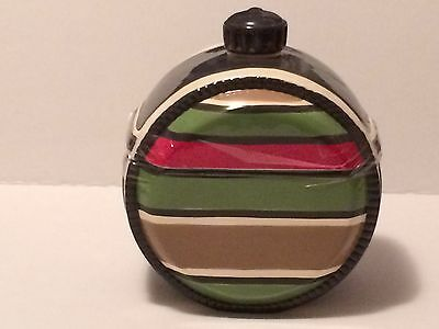 Round Cookie Jar Green & Red Military Color
