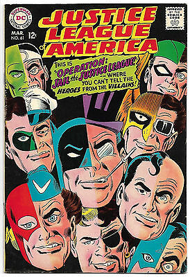 JUSTICE LEAGUE OF AMERICA #61 VF+ 8.5 High Grade HTF Black Cover NICE!
