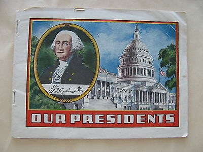 OUR PRESIDENTS ALKA SELTZER c 1934 BOOKLET WASHINGTON THRU ROOSEVELT**33 PAGES**