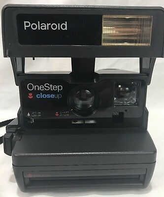 Polaroid One Step Close-Up 600 Instant Film Camera Tested Great Condition (B)