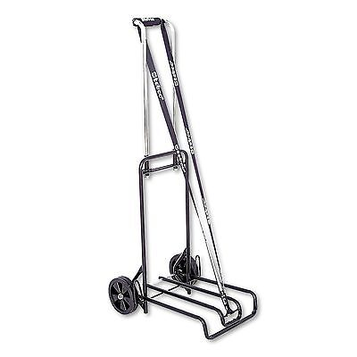 STEBCO 390007BLK Luggage Cart  250lb Capacity  12 1/4 x 13 Surface  Black/Chrome