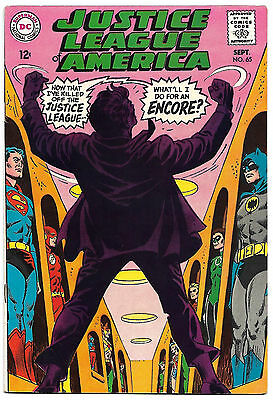JUSTICE LEAGUE OF AMERICA #65 VF+ 8.5 High Grade JSA story! *High-Res Scans*