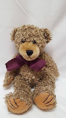 First and Main Scraggles Plush Bear Purple Bow Tie