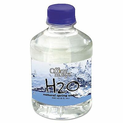 Office Snax 00023 Bottled Spring Water  8oz  24/Carton