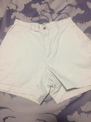 Vintage 1990s high waisted light khaki shorts, original owner, size 8