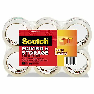 "Scotch 3650-6 Moving & Storage Tape  1.88"" x 54.6yds  3"" Core  Clear  6"