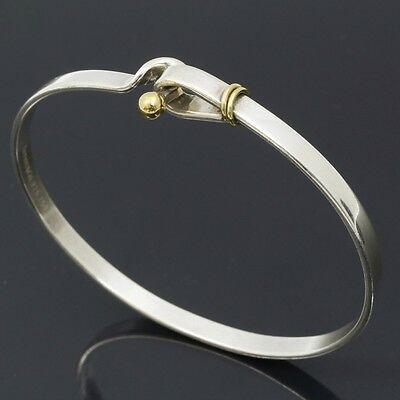 u4777 Authentic Tiffany & Co. Bracelet Bangle Silver 925 18k Yellow Gold