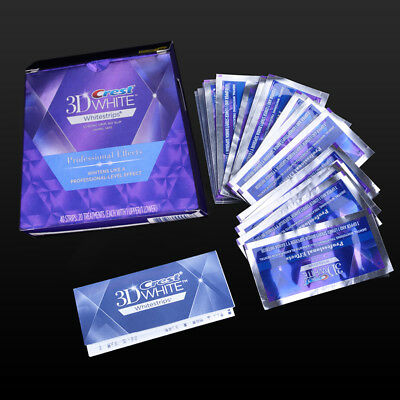 Crest 3D White Luxe Teeth Whitestrips Professional Effects 40 Strips 20 Pouch CE