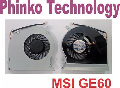 NEW Laptop CPU Cooling Fan for MSI GE60 MS-16GA MS-16GC PAAD06015SL N284