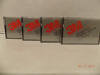 Lot of 5 New 3M Standard Dictating Cassette Tapes 90 min each - free shipping