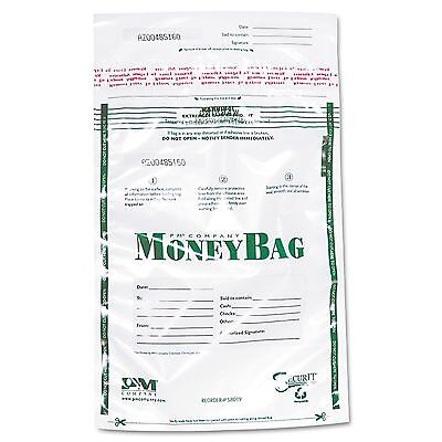 PM Company Securit 58019 Plastic Money Bags  Tamper Evident  9 x 12  Clear