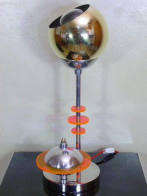 Cool Vintage Atomic Machine Age Space Table Lamp, Steampunk, Deco, Eames Era