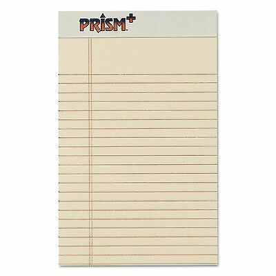 TOPS 63030 Prism Plus Colored Legal Pads  5 x 8  Ivory  50 Sheets  Dozen