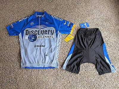 Nike Discovery Channel Bike Cycling Jersey & Short Men's Size L