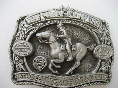 Pony Express  Belt  Buckle  (B72)