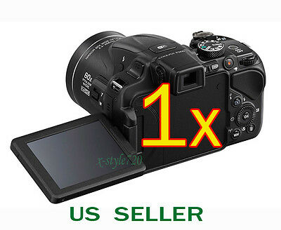 1x Clear LCD Screen Protector Guard Shield Film For Nikon Coolpix P600 / P610