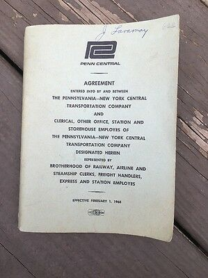 February 1968 Penn Central Agreement With Clerks