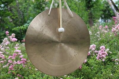 """28"""" wind gong and wood mallet"""
