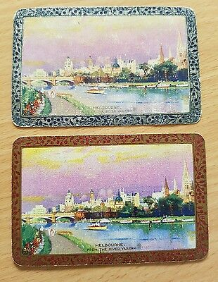 Vintage swap card playing card Good condition. PAIR Melbourne from Yarra River
