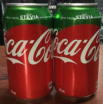 Coca Cola. 375ml. With Stevia. Collector Cans x 2