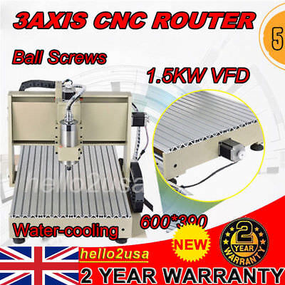 6040 1.5KW 3AXIS CNC ROUTER ENGRAVER Drilling Carving Machine Ball Screw+MACH3
