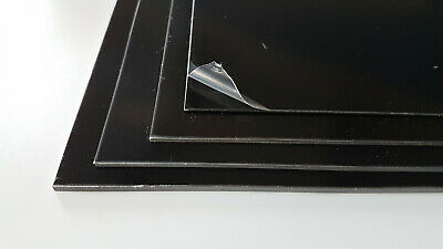 Black Plasticard Sheet High Impact Polystyrene HIPS A5 A4 A3 1, 1.5, 2 & 3mm Thk