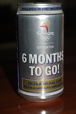 Sydney Olympics 2000 Fosters Silver Beer Can