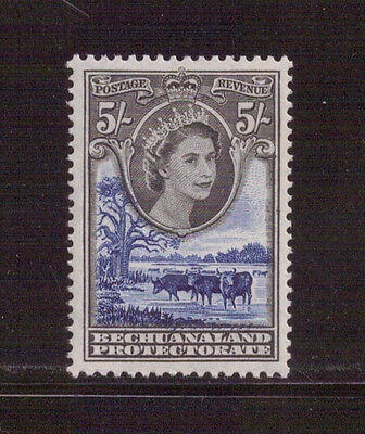 British Empire and Commonwealth - Bechuanaland 5s Queen Elizabeth mint
