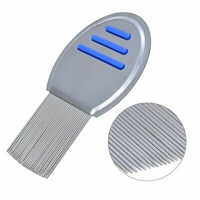 blue lice nit comb brush get down to NITTY GRITTY stainless steel head and teeth