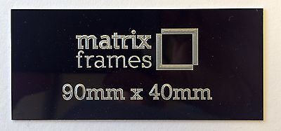 90  x 40 mm Engraved Plaque *Any inscription can by supplied* Trophies Frames