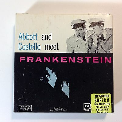 Vintage 8mm Super8 Movie Abbott & Costello Meet Frankenstein