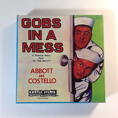 Vintage 8mm Super8 Movie Abbott & Costello Gobs In A Mess