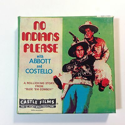 Vintage 8mm Super8 Movie Abbott & Costello No Indians Please