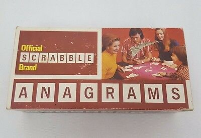 Scrabble Anagrams Word Board Game Complete Vintage 1970s