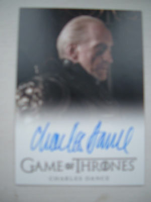 Game of thrones season 2 Charles Dance Tywin Lannister Autograph Card