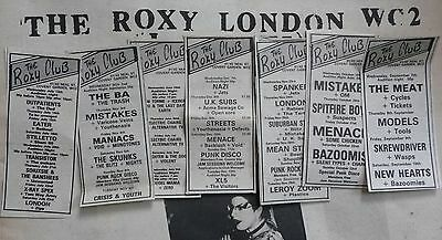 1977 ROxY CLuB  NME sOundS  mUsic papER      sEDITIONAries SEX PIStols