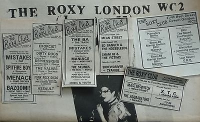1977 ROxY CLuB..  NME sOundS  mUsic papER      sEDITIONAries SEX PIStols
