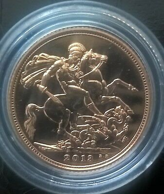 2013 Mint Full Gold Sovereign capsulated. Receipted. Free S.Delivery. BEST PRICE