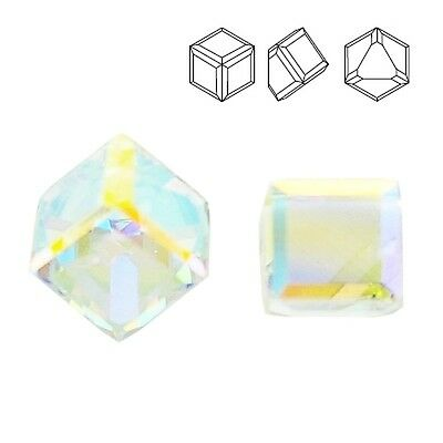Swarovski 4841 Cube 6 mm Crystal Vitrail Light Z price for 1 piece