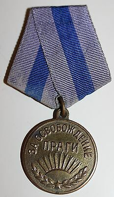 Soviet Russian For Liberation of Prague Medal  Badge Order