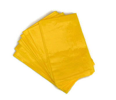 10 Large Plastic Sick Vomit Motion Travel Sickness Bags - Yellow Disposable