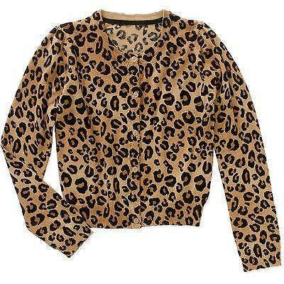 George Girls' Long Sleeve Printed Cardigan CHEETAH Size 7-8 NEW!