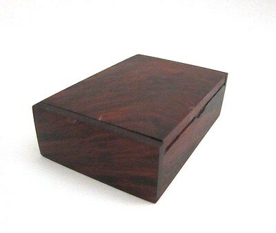 Handmade  Storage Name Card Holder Gift Wooden  Box Wood Vintage Jewelry