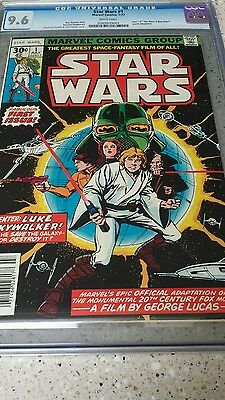 1977 Star Wars CGC 9.6 Marvel comic issue #1 A New Hope White Pages (1st print)