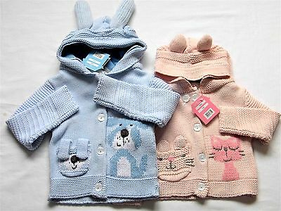 Baby Boy/girl Chunky Knitted Hooded Cardy